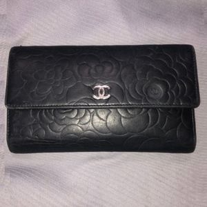 Authentic Chanel Camellia Wallet
